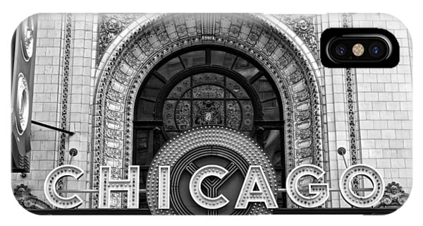 Chicago Skyline Art iPhone Case - Chicago Theater Marquee by Frozen in Time Fine Art Photography