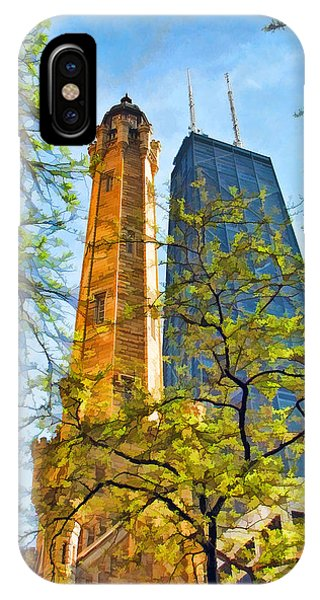 John Hancock Center iPhone Case - Chicago Water And Hancock Towers by Christopher Arndt