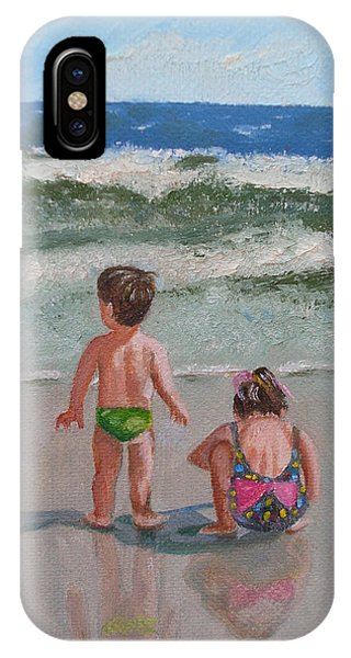 Children On The Beach IPhone Case