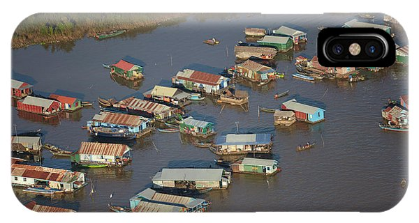 Cambodia iPhone Case - Chong Kneas Floating Village, Tonle Sap by David Wall