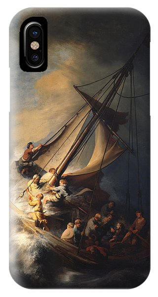 Danger iPhone Case - Christ In The Storm On The Sea Of Galilee by Rembrandt Van Rijn