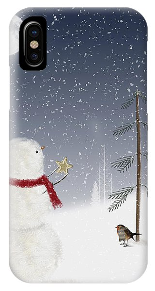 Christmas Snowman IPhone Case