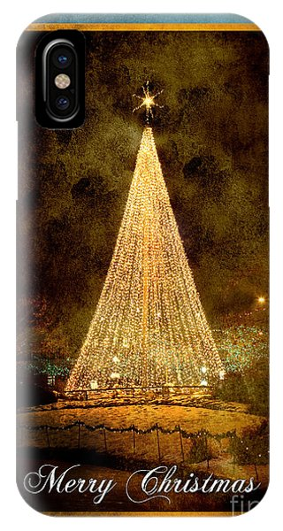 Christmas Tree In The City IPhone Case