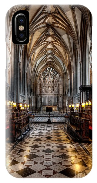 Chapel iPhone Case - Church Interior by Adrian Evans