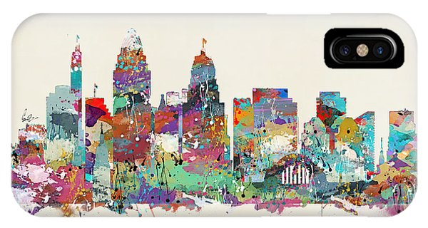 Missouri iPhone Case - Cincinnati Ohio Skyline by Bri Buckley