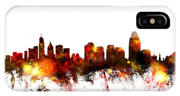 United States iPhone Case - Cincinnati Ohio Skyline by Michael Tompsett