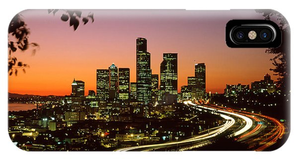 Skyline iPhone Case - City Of Seattle Skyline by King Wu