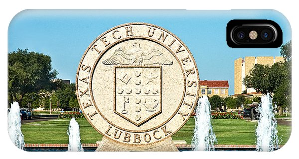 IPhone Case featuring the photograph Classical Image Of The Texas Tech University Seal  by Mae Wertz