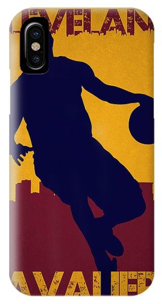 Lebron James iPhone Case - Cleveland Cavaliers Lebron James by Joe Hamilton