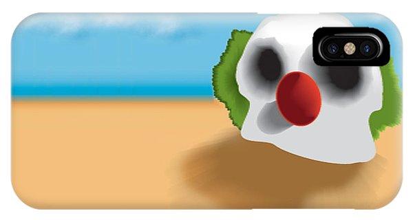 Dark Humor iPhone Case - Clown Skull In The Desert by Del Gaizo