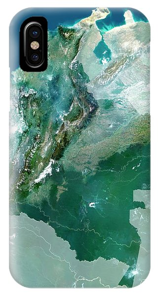 Colombia iPhone Case - Colombia by Planetobserver/science Photo Library