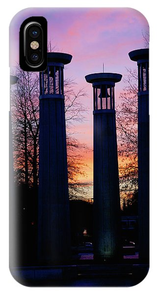 Capitol Building iPhone Case - Colonnade In A Park At Sunset, 95 Bell by Panoramic Images