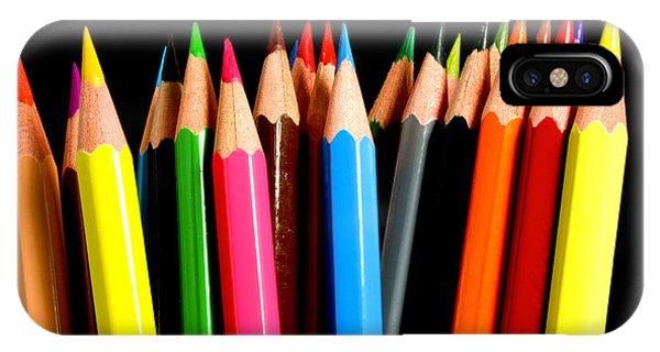 Color Pencil iPhone Case - Colored Pencils by Michael Tompsett