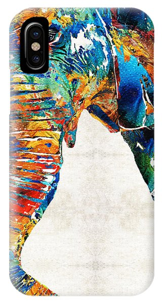 Primary Colors iPhone Case - Colorful Elephant Art By Sharon Cummings by Sharon Cummings