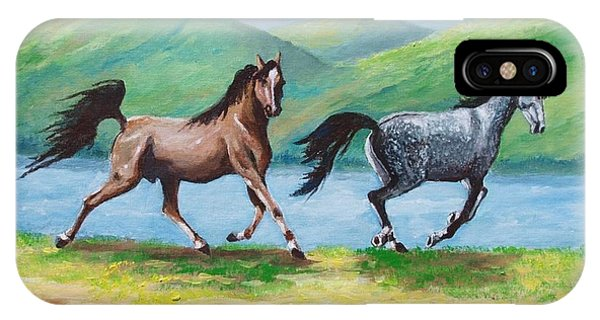 Colt And Mare IPhone Case