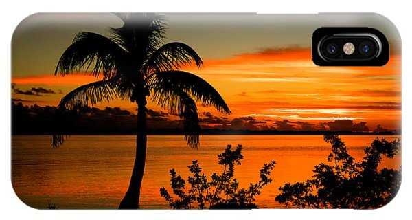 Conch Key Bay Sunset IPhone Case