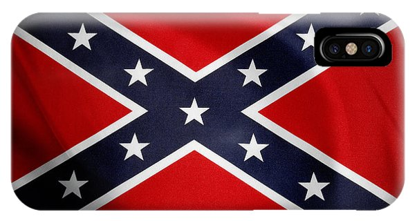 Landmark iPhone Case - Confederate Flag 5 by Les Cunliffe