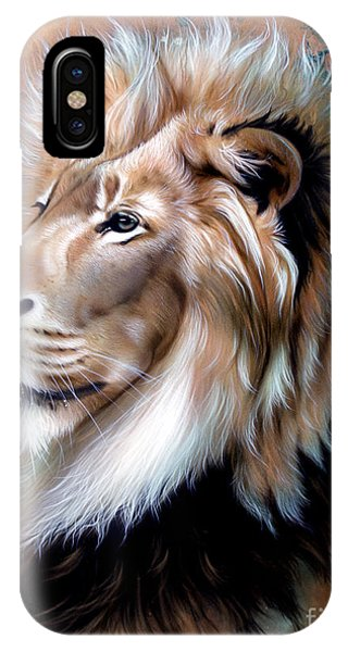 Copper King - Lion IPhone Case