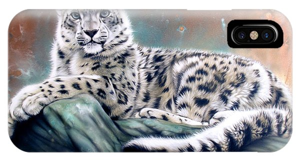 Copper Snow Leopard IPhone Case