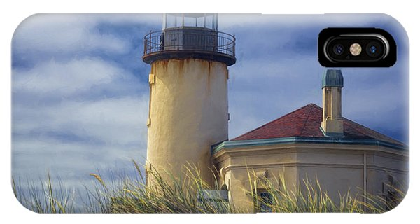 Navigation iPhone Case - Coquille River Lighthouse II by Joan Carroll