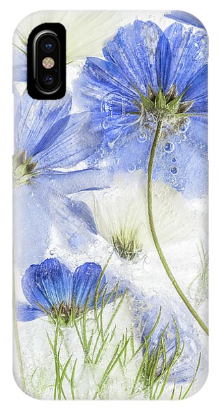 Freeze iPhone Case - Cosmos Blue by Mandy Disher