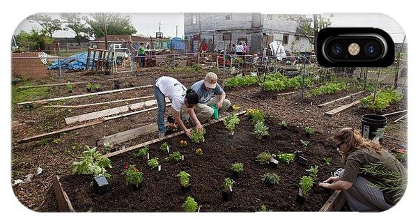 Katrina iPhone Case - Creating Community Garden by Jim West