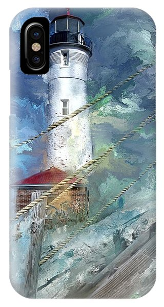 Crisp Point Lighthouse Michigan IPhone Case