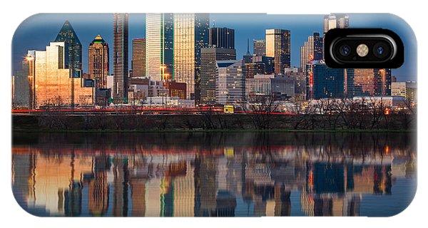 Dallas iPhone Case - Dallas Skyline by Mihai Andritoiu