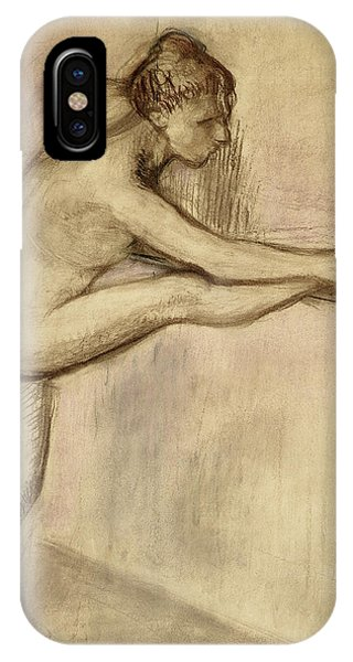 Impressionistic iPhone Case - Dancer At The Bar by Edgar Degas
