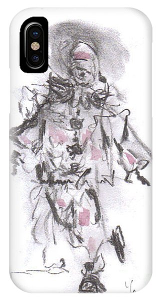 IPhone Case featuring the mixed media Dancing Clown by Laurie Lundquist