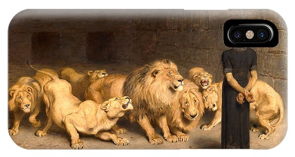 Dungeon iPhone Case - Daniel In The Lions' Den by Briton Riviere