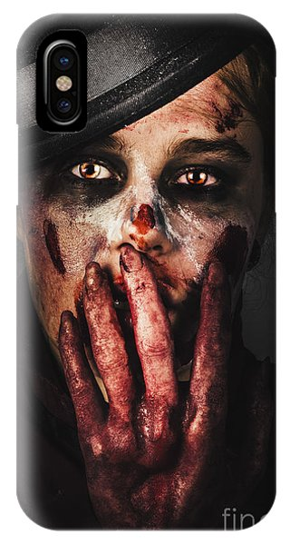 Ghastly iPhone Case - Dark Face Of Fear. Fright Night by Jorgo Photography - Wall Art Gallery