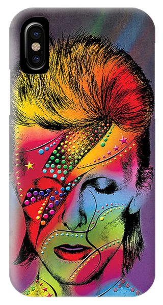 Men iPhone Case - David Bowie by Mark Ashkenazi