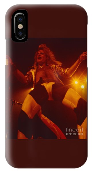 David Lee Roth - Van Halen At The Oakland Coliseum 12-2-1978 Rare Unreleased IPhone Case