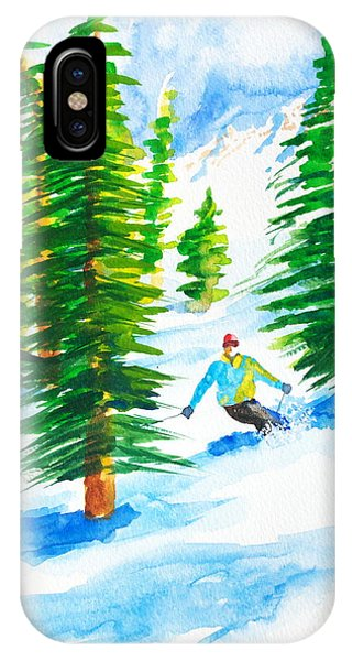 David Skiing The Trees  IPhone Case