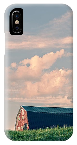 New England Barn iPhone Case - Day Is Done by Edward Fielding