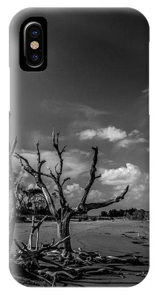 Dead Trees On The Beach IPhone Case