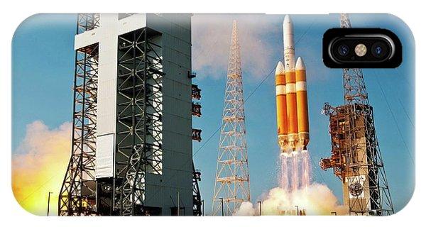 Delta iPhone Case - Delta Iv Rocket Launch by National Reconnaissance Office