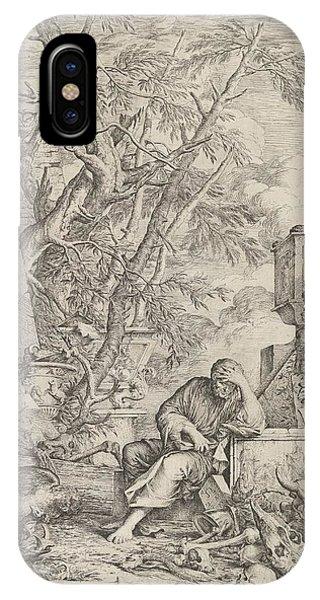 Rosa iPhone Case - Democritus In Meditation by Salvator Rosa
