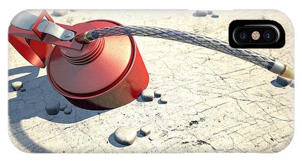 Dispenser iPhone Case - Desert Oil by Allan Swart