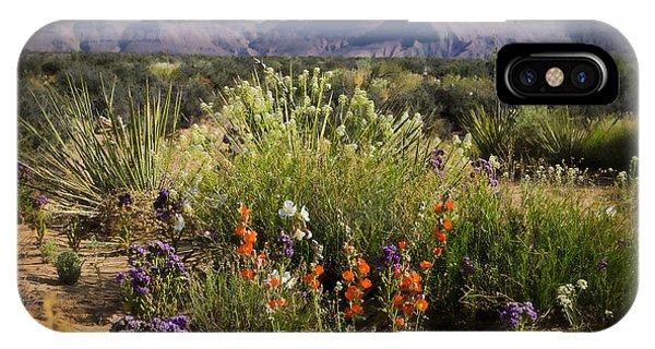 Desert Wildflowers IPhone Case