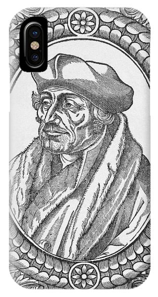 Free Will iPhone Case - Desiderius Erasmus, Dutch Theologian by Middle Temple Library