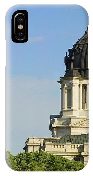 Capitol Building iPhone Case - Detail Of Dome Of South Dakota State by Panoramic Images