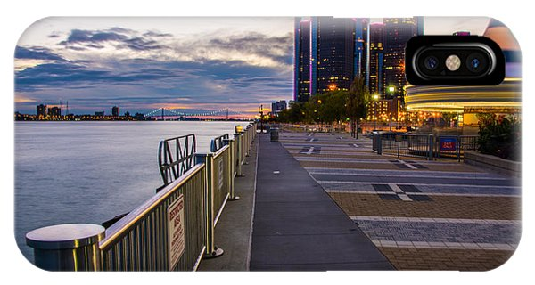 Detroit River Walk IPhone Case