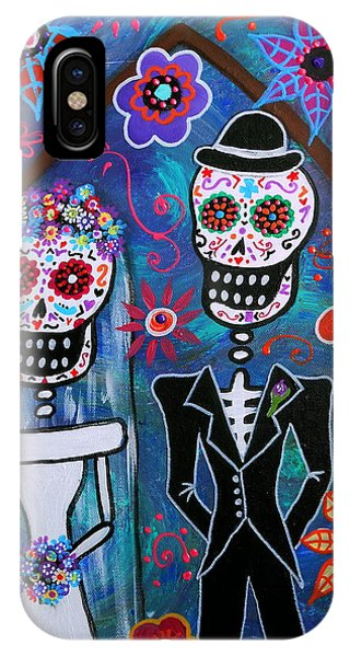 Dia De Los Muertos Wedding IPhone Case