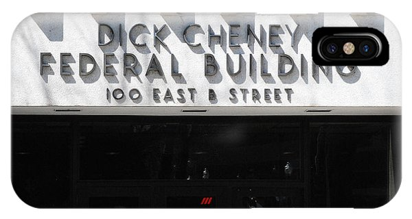 Dick Cheney iPhone Case - Dick Cheney Federal Bldg. by Oscar Williams