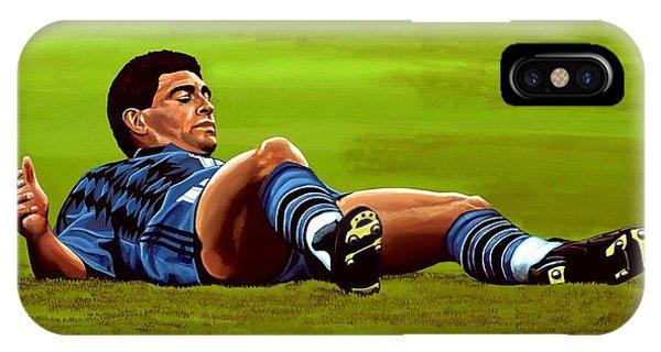 20th iPhone Case - Diego Maradona 2 by Paul Meijering