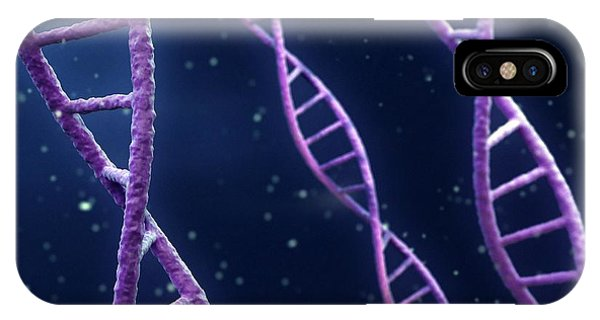 Dna Strands Phone Case by Maurizio De Angelis/science Photo Library