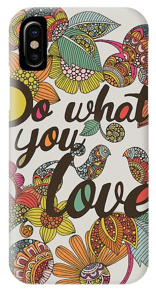Contemporary Floral iPhone Case - Do What Your Love by Valentina