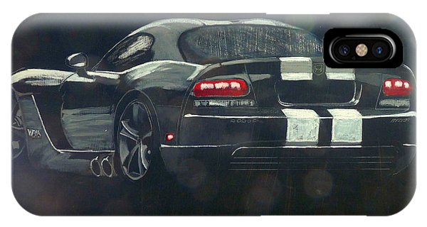 IPhone Case featuring the painting Dodge Viper 2 by Richard Le Page